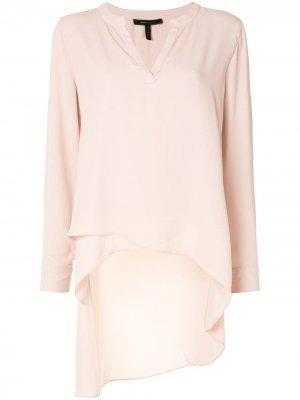 Длинная блузка асимметричного кроя BCBG Max Azria. Цвет: розовый