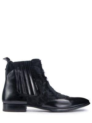 Ботинки-челси с мехом каракуля ZILLI