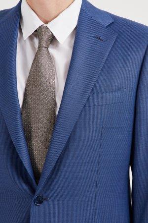 Шерстяной синий костюм Stefano Ricci. Цвет: синий