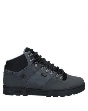 Высокие кеды и кроссовки DVS SHOE COMPANY. Цвет: свинцово-серый