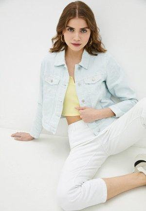 Куртка джинсовая Befree. Цвет: бирюзовый