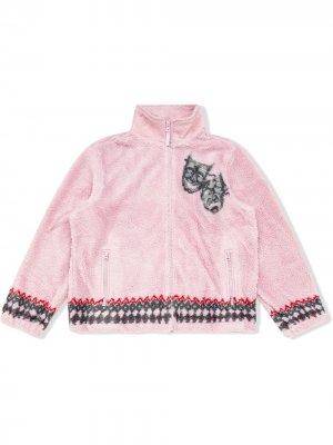 Флисовая куртка Drama Mask Supreme. Цвет: розовый
