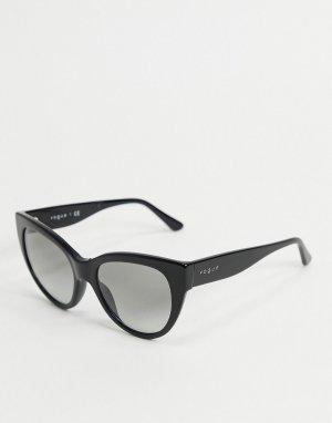 Черные солнцезащитные очки кошачий глаз Vogue-Черный VOGUE