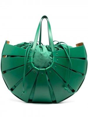 Большая сумка Shell Bottega Veneta. Цвет: зеленый