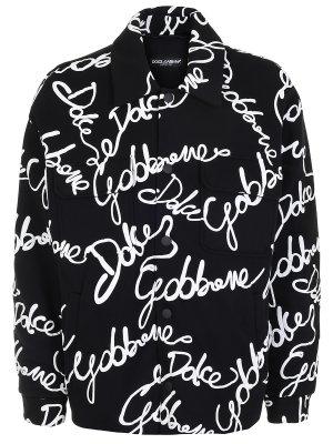 Куртка утепленная с принтом DOLCE & GABBANA