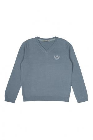 Хлопковый пуловер Bonpoint. Цвет: серо-синий