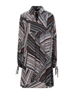 Короткое платье HOTEL PARTICULIER. Цвет: темно-коричневый