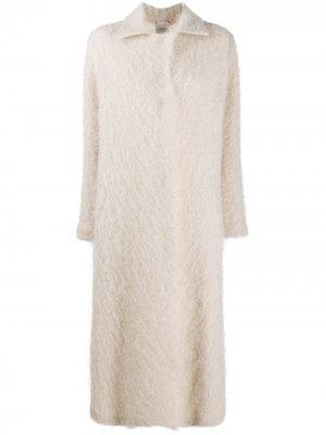 Длинное пальто Alysi. Цвет: нейтральные цвета