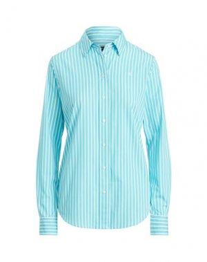 Pубашка LAUREN RALPH. Цвет: лазурный