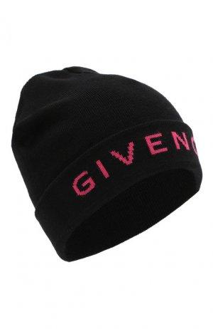 Шерстяная шапка бини Givenchy. Цвет: черный