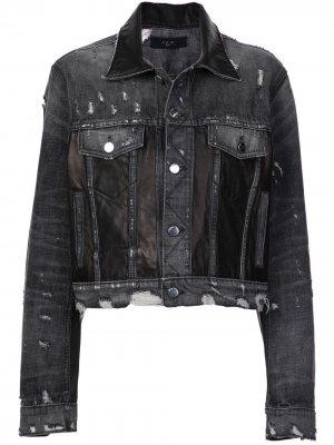 Состаренная джинсовая куртка Amiri