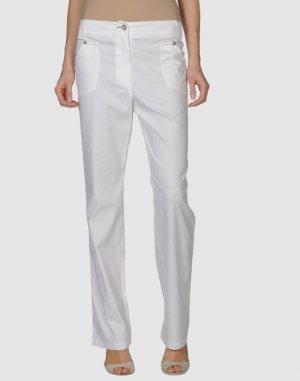 Повседневные брюки BASIC. Цвет: белый