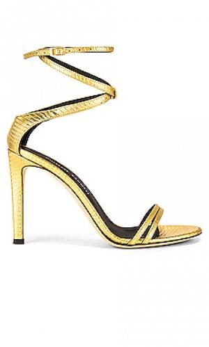 Туфли на шпильке Giuseppe Zanotti. Цвет: металлический золотой