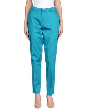 Повседневные брюки FEMÌ. Цвет: бирюзовый