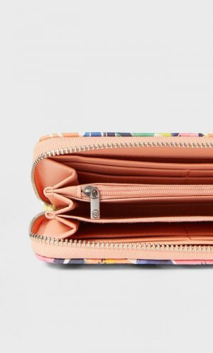 Кошелек С Принтом И Застежкой На Молнию Женская Коллекция Пастельно-Розовый 103 Stradivarius. Цвет: пастельно-розовый