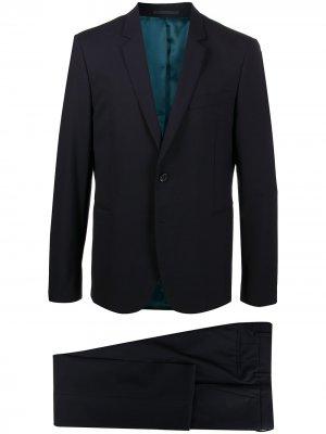 Костюм с однобортным пиджаком PS Paul Smith. Цвет: синий