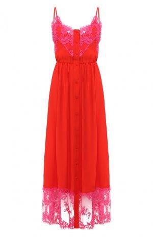 Платье-миди MSGM. Цвет: красный