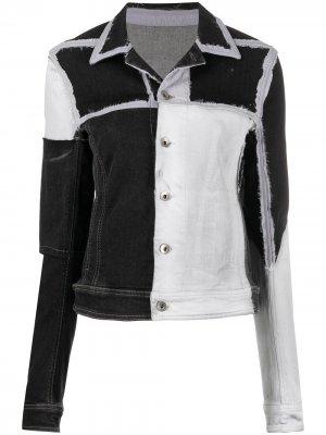 Джинсовая куртка с контрастными вставками Rick Owens DRKSHDW. Цвет: черный