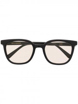 Солнцезащитные очки Tomy в круглой оправе Gentle Monster. Цвет: черный