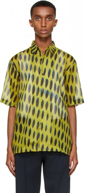Yellow Len Lye Edition Graphic Short Sleeve Shirt Dries Van Noten. Цвет: 202 yellow