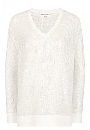 Пуловер ERMANNO SCERVINO. Цвет: белый
