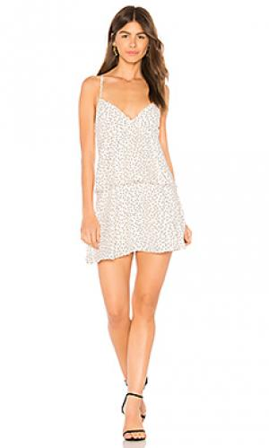 Платье spotty Bardot. Цвет: белый