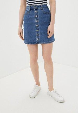Юбка джинсовая G&G. Цвет: синий
