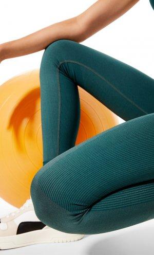 Моделирующие Спортивные Легинсы Бутылочно-Зеленый Xs Stradivarius. Цвет: бутылочно-зеленый