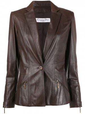 Приталенная куртка 2000-х годов Christian Dior Pre-Owned. Цвет: коричневый