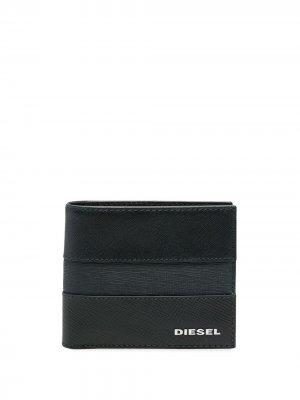 Бумажник с контрастной полоской Diesel. Цвет: синий