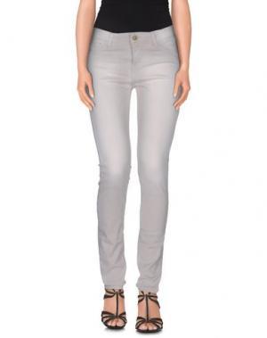 Джинсовые брюки ACQUAVERDE. Цвет: бежевый