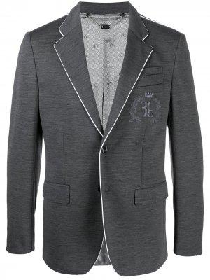 Пиджак с вышивкой Billionaire. Цвет: серый