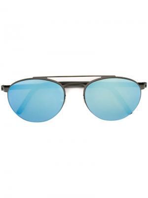Солнцезащитные очки в круглой оправе Lindberg. Цвет: чёрный