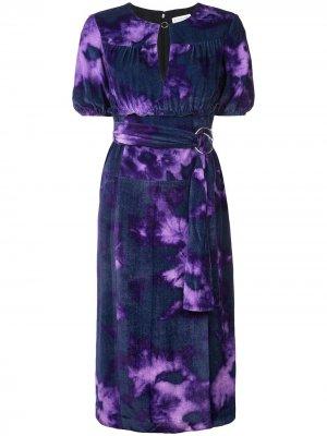 Платье с поясом Altuzarra. Цвет: фиолетовый