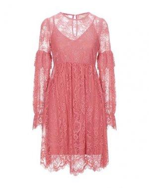 Короткое платье ANIYE BY. Цвет: коралловый