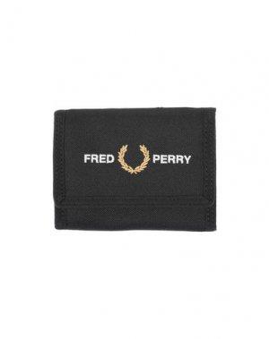 Бумажник FRED PERRY. Цвет: черный