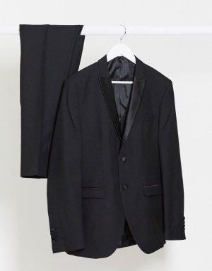 Черный пиджак узкого кроя -Черный цвет Selected Homme
