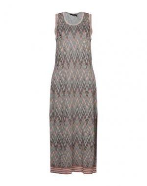 Длинное платье SEVENTY SERGIO TEGON. Цвет: бежевый