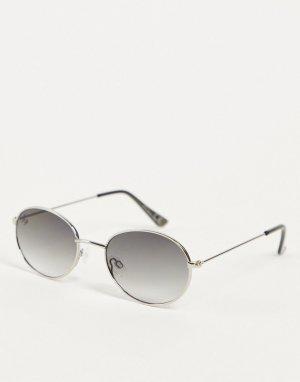 Круглые солнцезащитные очки -Серебристый Jeepers Peepers