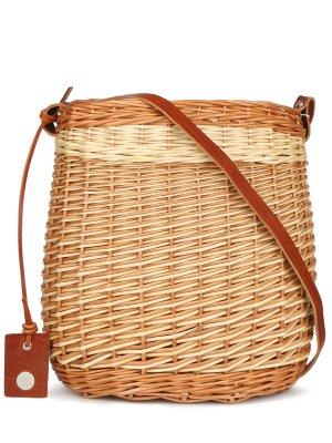 Плетеная сумка-корзина High. Цвет: разноцветный