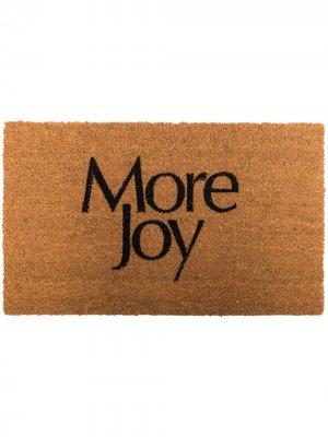 Придверный коврик с логотипом More Joy. Цвет: коричневый