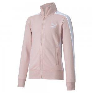 Детская олимпийка Classics T7 Track Jacket PUMA. Цвет: розовый