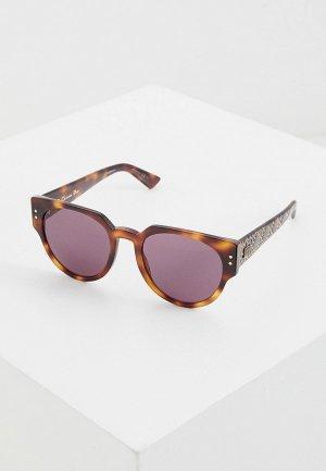 Очки солнцезащитные Christian Dior LADYDIORSTUDS3 086. Цвет: коричневый