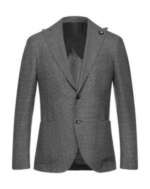 Пиджак LARDINI. Цвет: серый