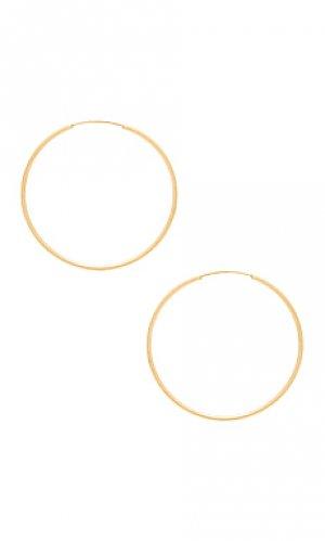 Серьги-кольца infinity Sachi. Цвет: металлический золотой