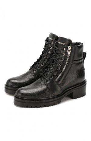 Кожаные ботинки Army Balmain. Цвет: черный