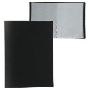 Папка а4, 60 прозрачных вкладышей, 500 мкм, calligrata, песок, чёрная Calligrata