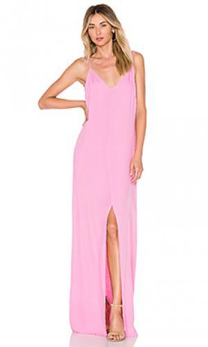 Платье-комбинация kate LA Made. Цвет: розовый