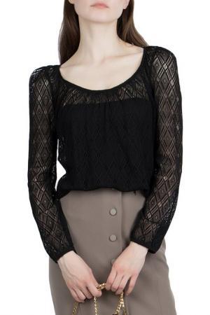 Блузка Patrizia Pepe. Цвет: черный