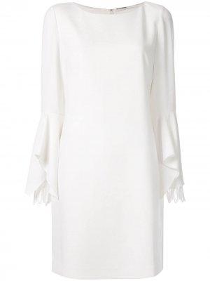 Платье Dori с длинными рукавами Elie Tahari. Цвет: белый